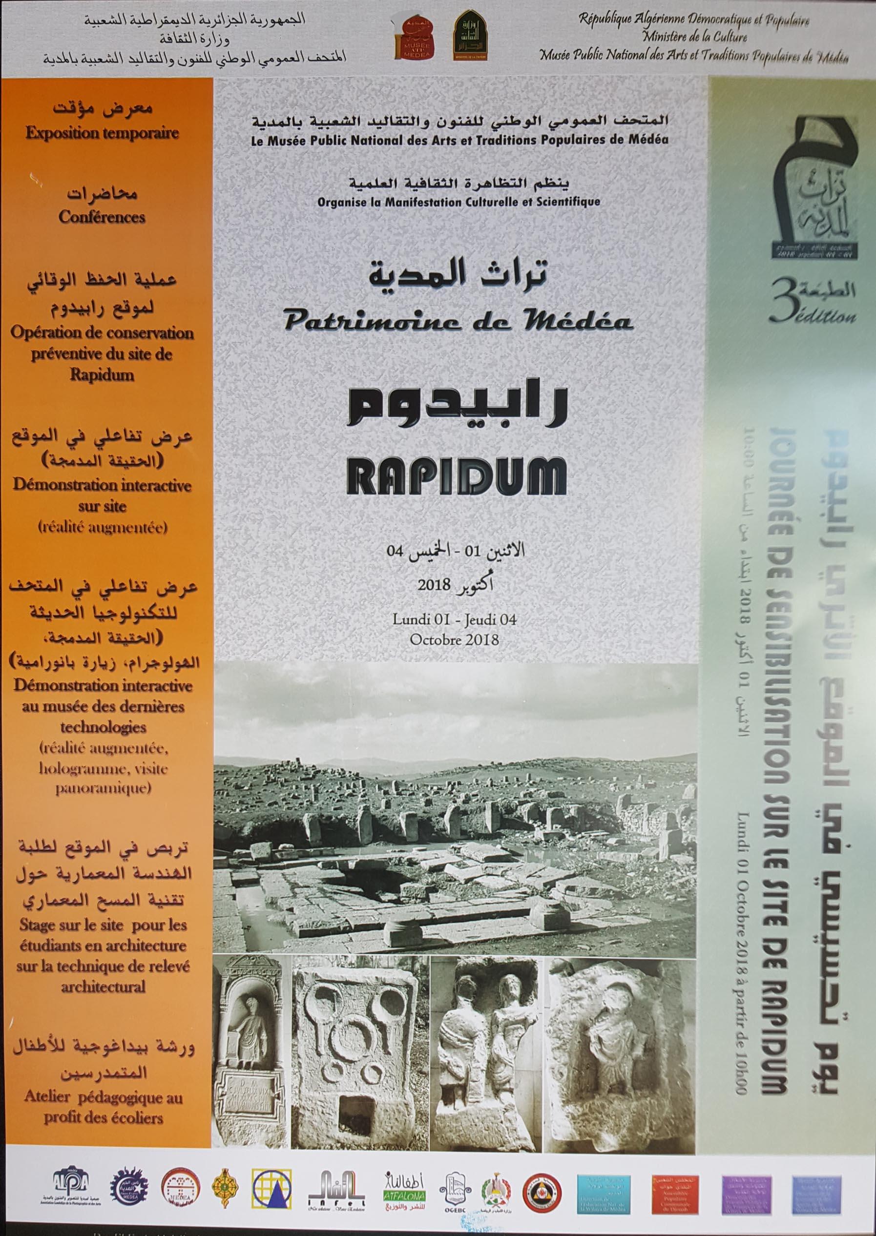 Journées d'études sur le Patrimoine de Médéa (RAPIDUM)